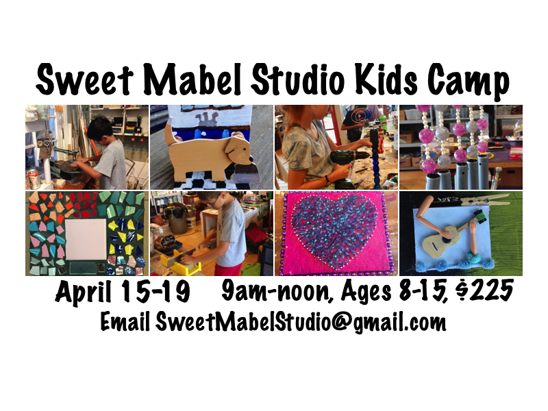 Kids Studio Camp, Ages 8-15, 9am-noon, $225/week @ Sweet Mabel Studio
