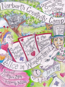 Narberth Creativity Camp, 2-week session 8/13-8/24, 9am-3pm @ Sweet Mabel Studio